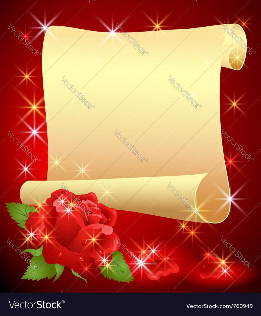 Folded parchment vector image
