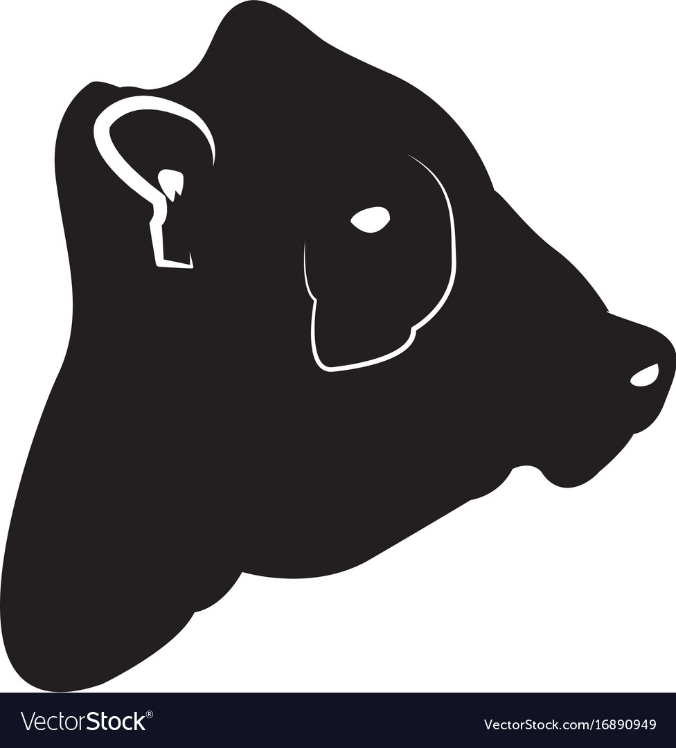 Isolated cow head silhouette vector image