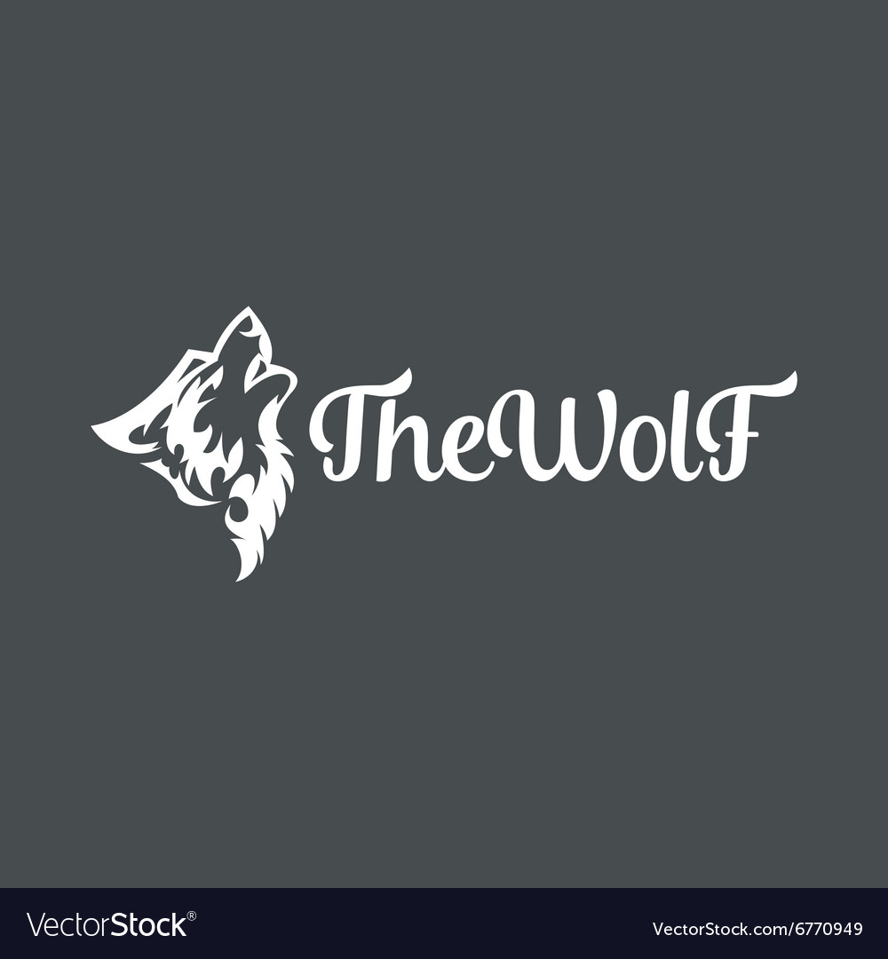 Wolf howling the moon in style of tattoos flat vector image