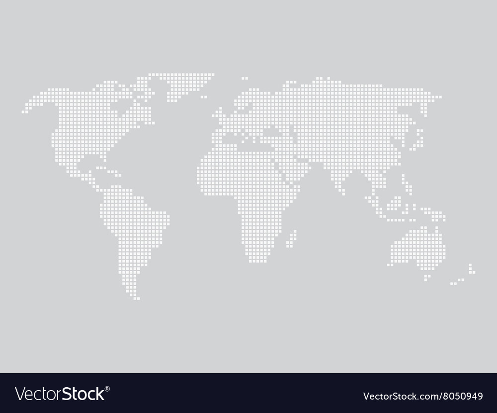 World map made of squares royalty free vector image world map made of squares vector image gumiabroncs Image collections