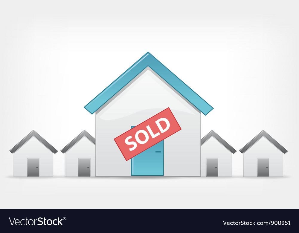 Sold Home vector image