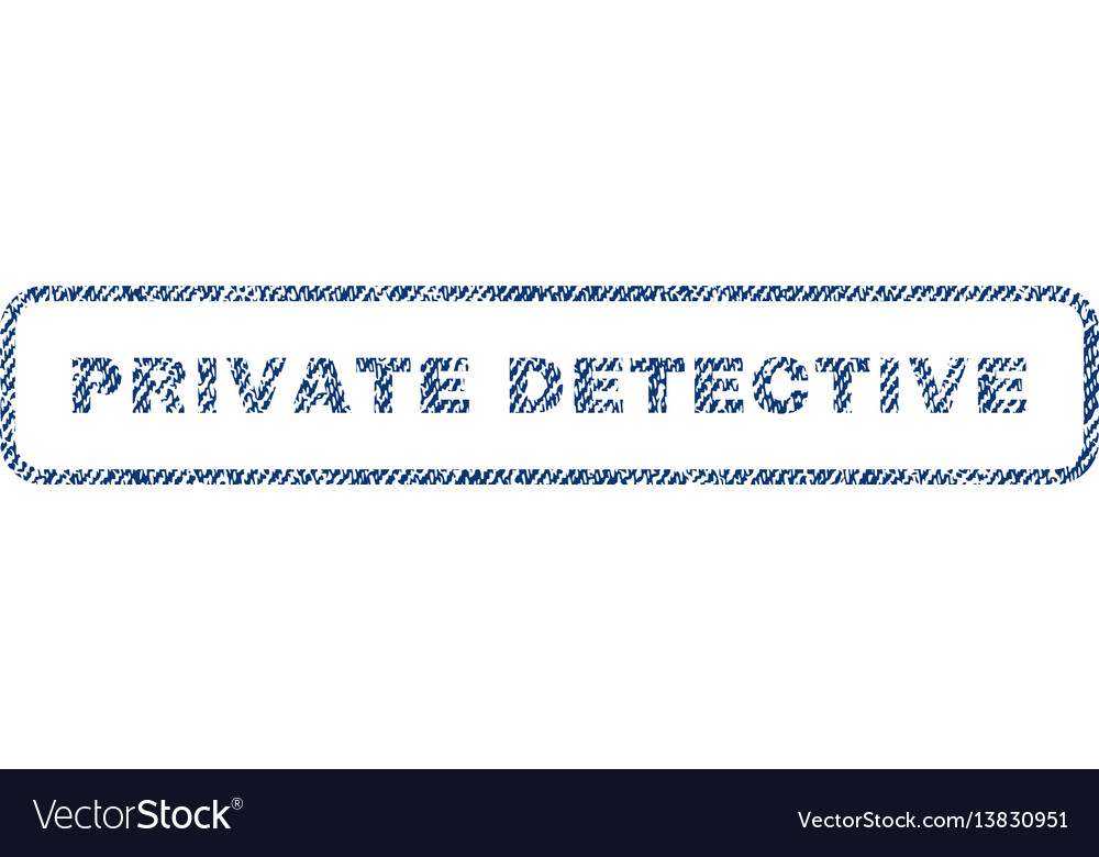 Private detective textile stamp vector image