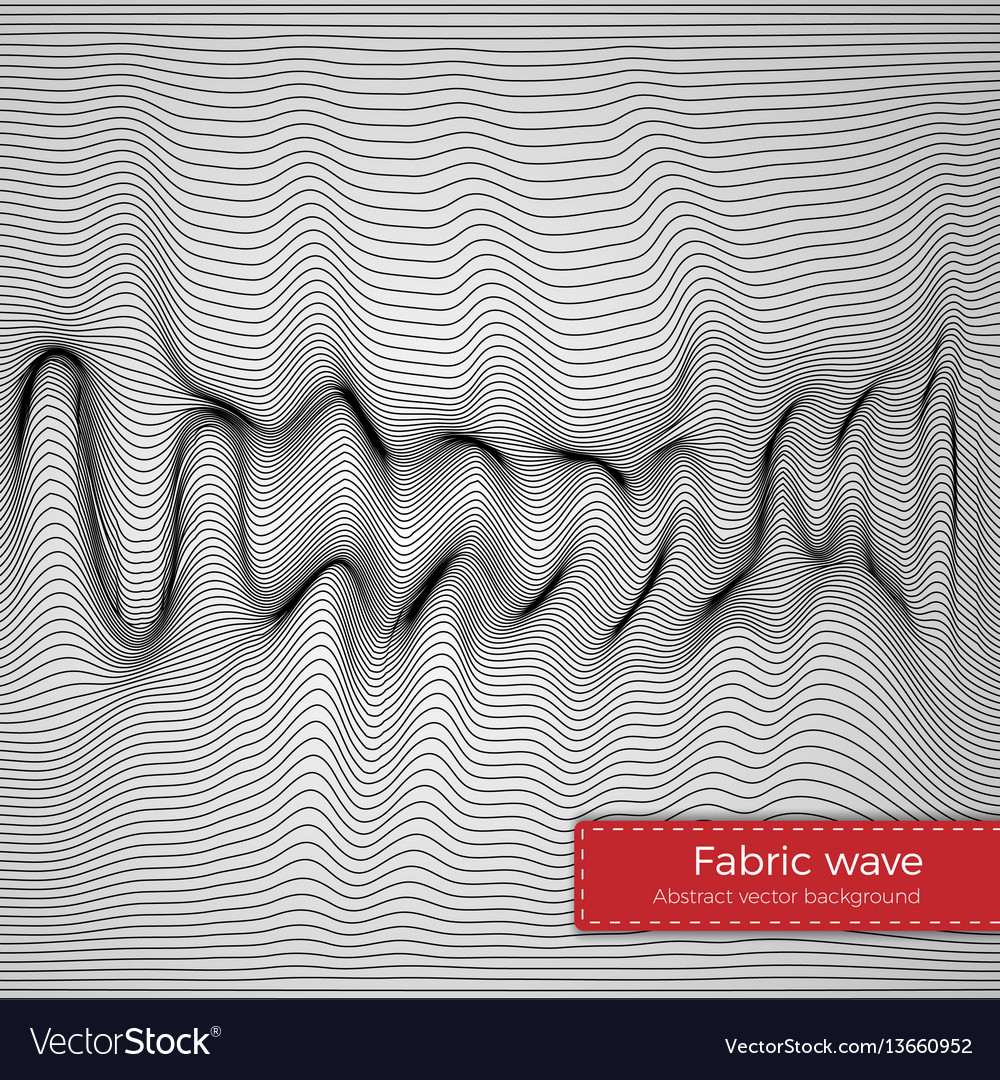 Fabric wave background vector image