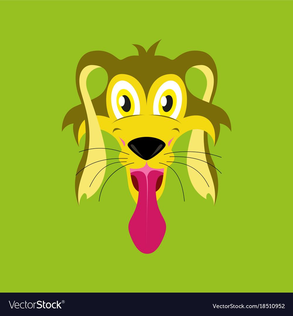 Flat icons on theme funny animals dog