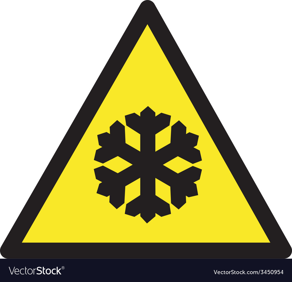 Freezing Temperatures Safety Sign vector image