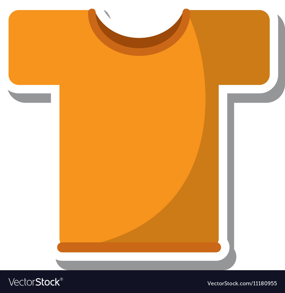 Sport shirt isolated icon vector image
