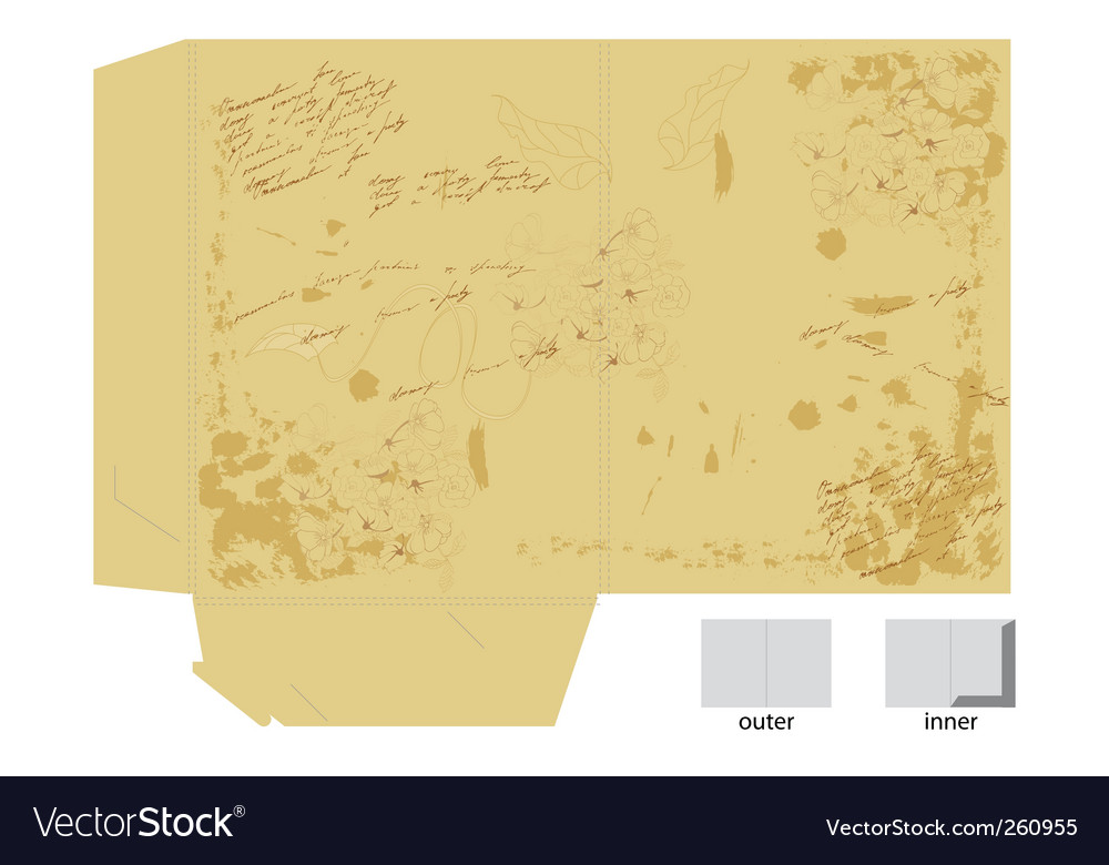 Vintage template for map design vector image