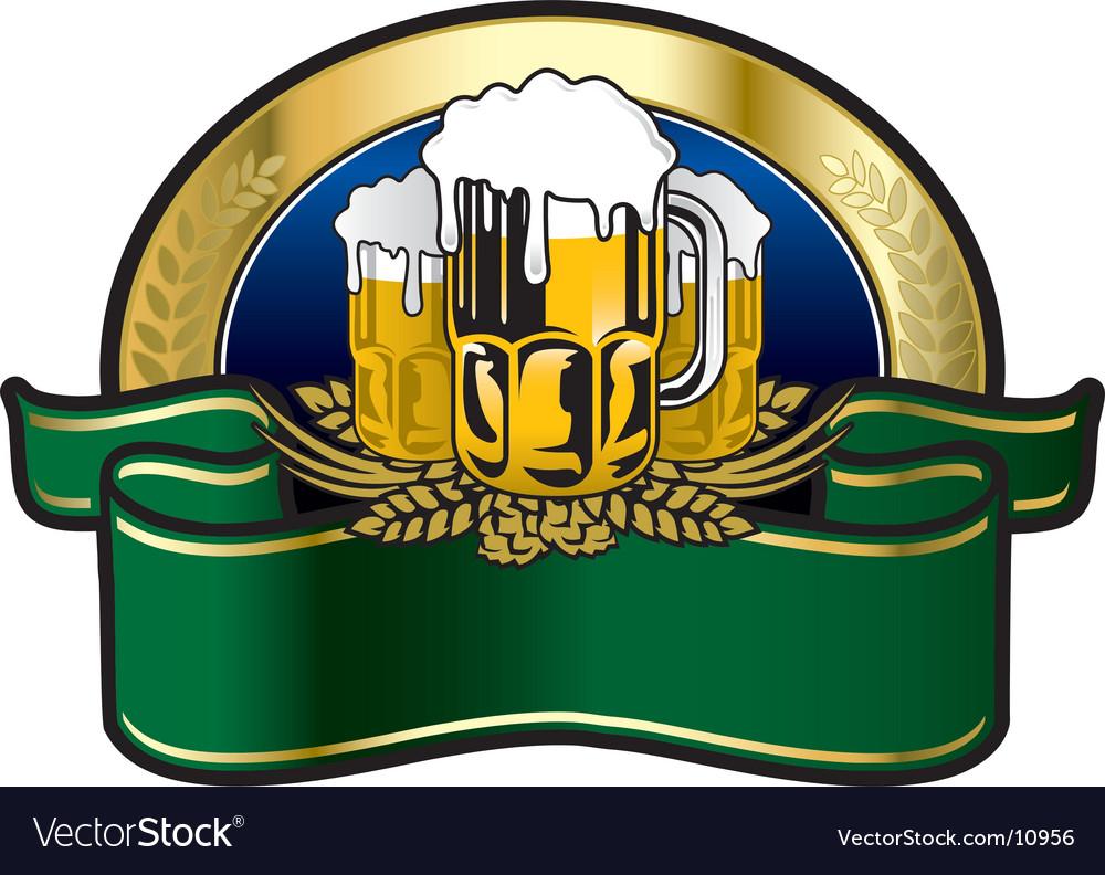 Beer big fest label Vector Image