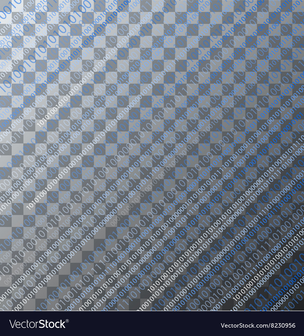 Binary code on transparent background vector image