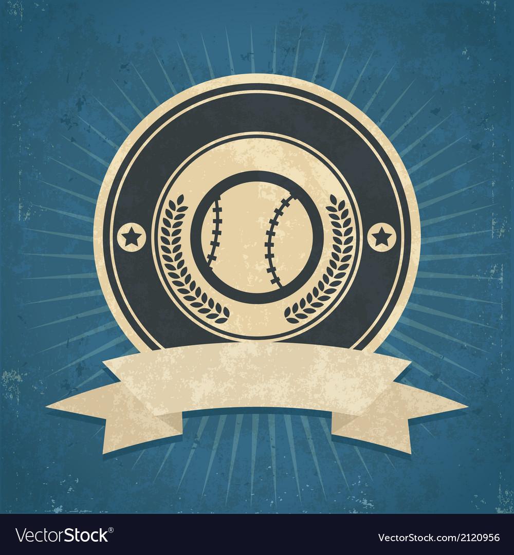 Retro Baseball Emblem vector image