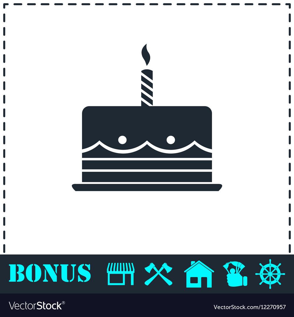 Birthday cake icon flat royalty free vector image birthday cake icon flat vector image biocorpaavc