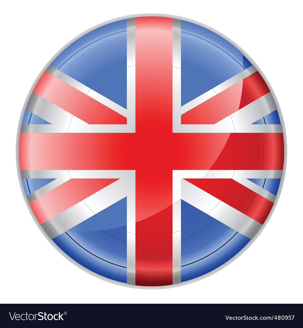 England Flag Button Royalty Free Vector Image VectorStock - Flag of england