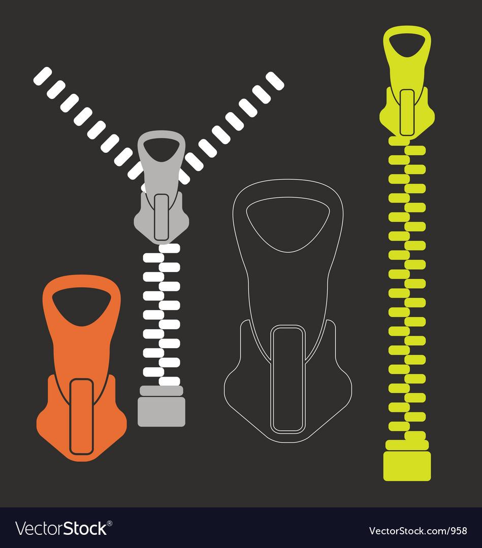 A zip vector image
