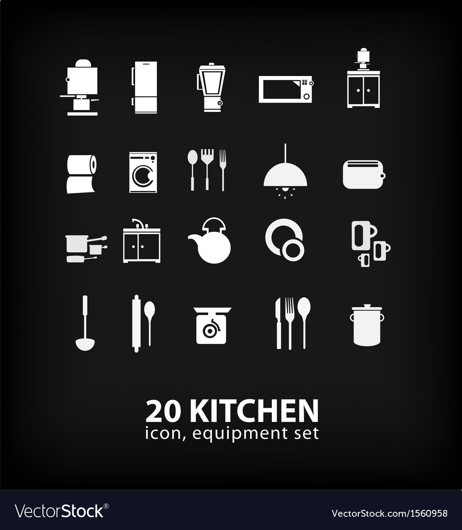 Kitchen equipment set vector image