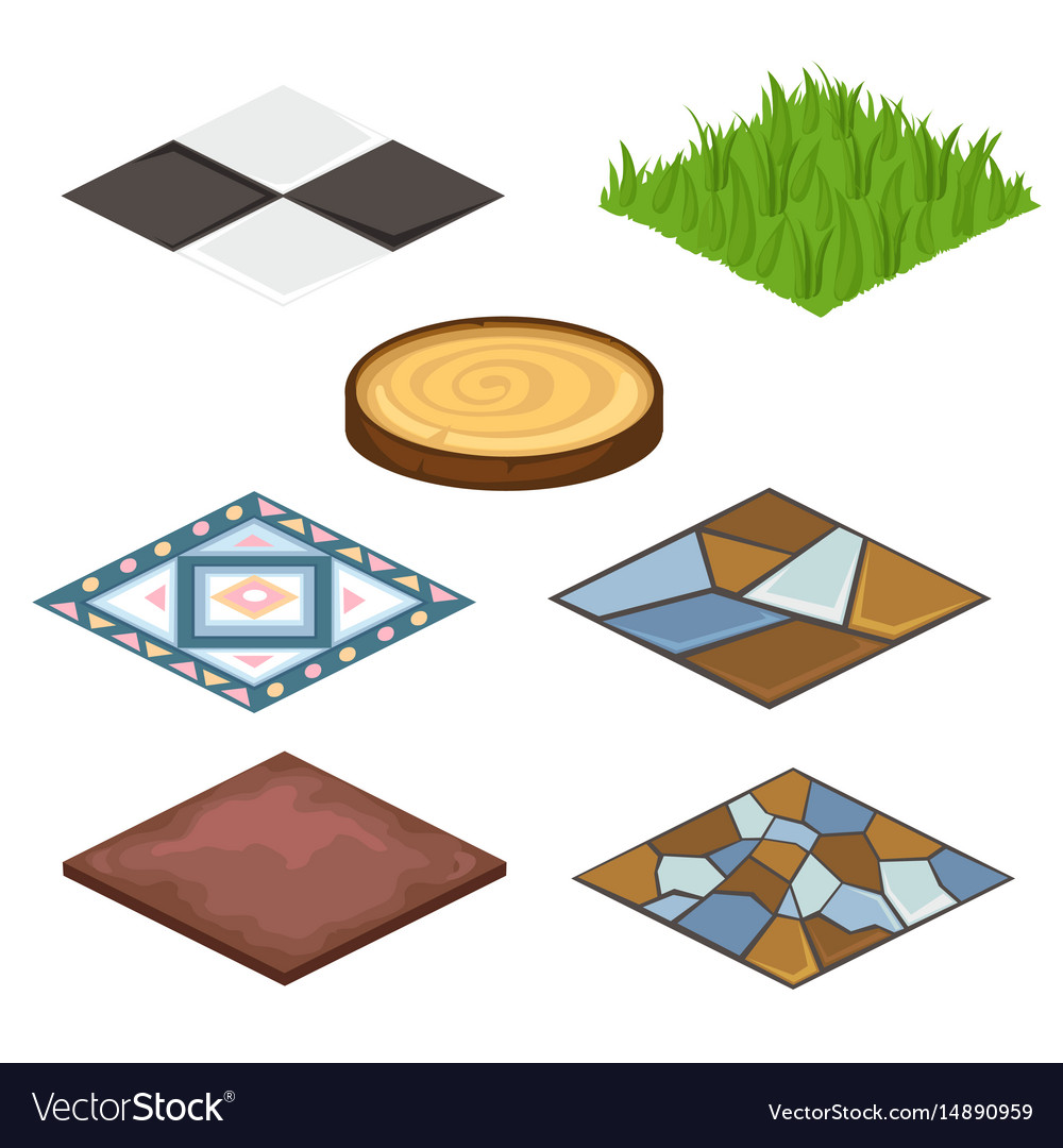 Set of different coatings for house and croft vector image
