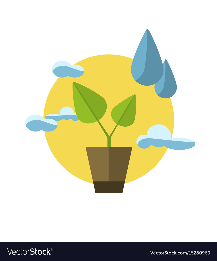Concept with icon of ecology vector image