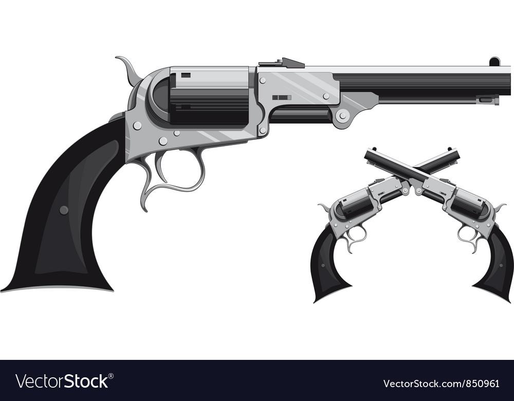 Cowboy revolver vector image
