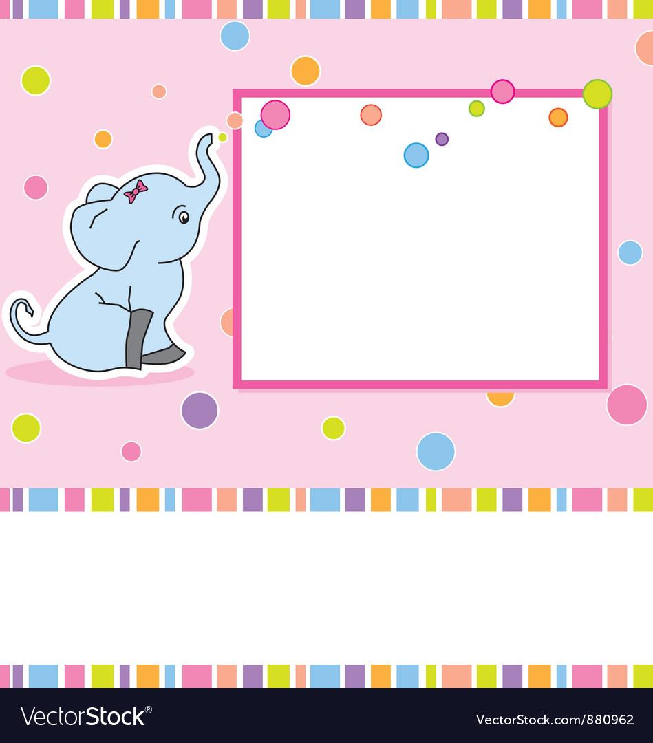 Card elephant vector image
