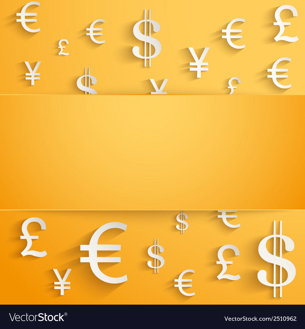 Business background with money Currency symbols vector image