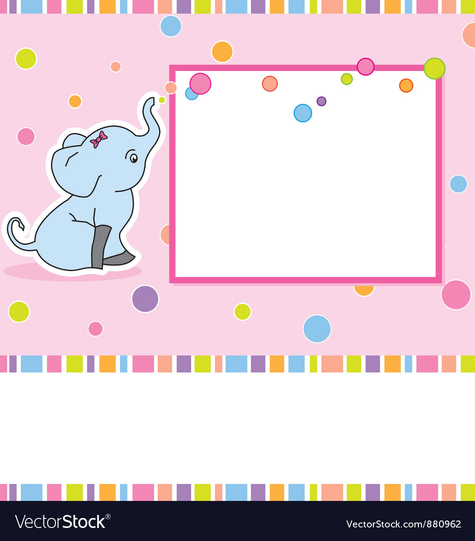 Card elephant vector image