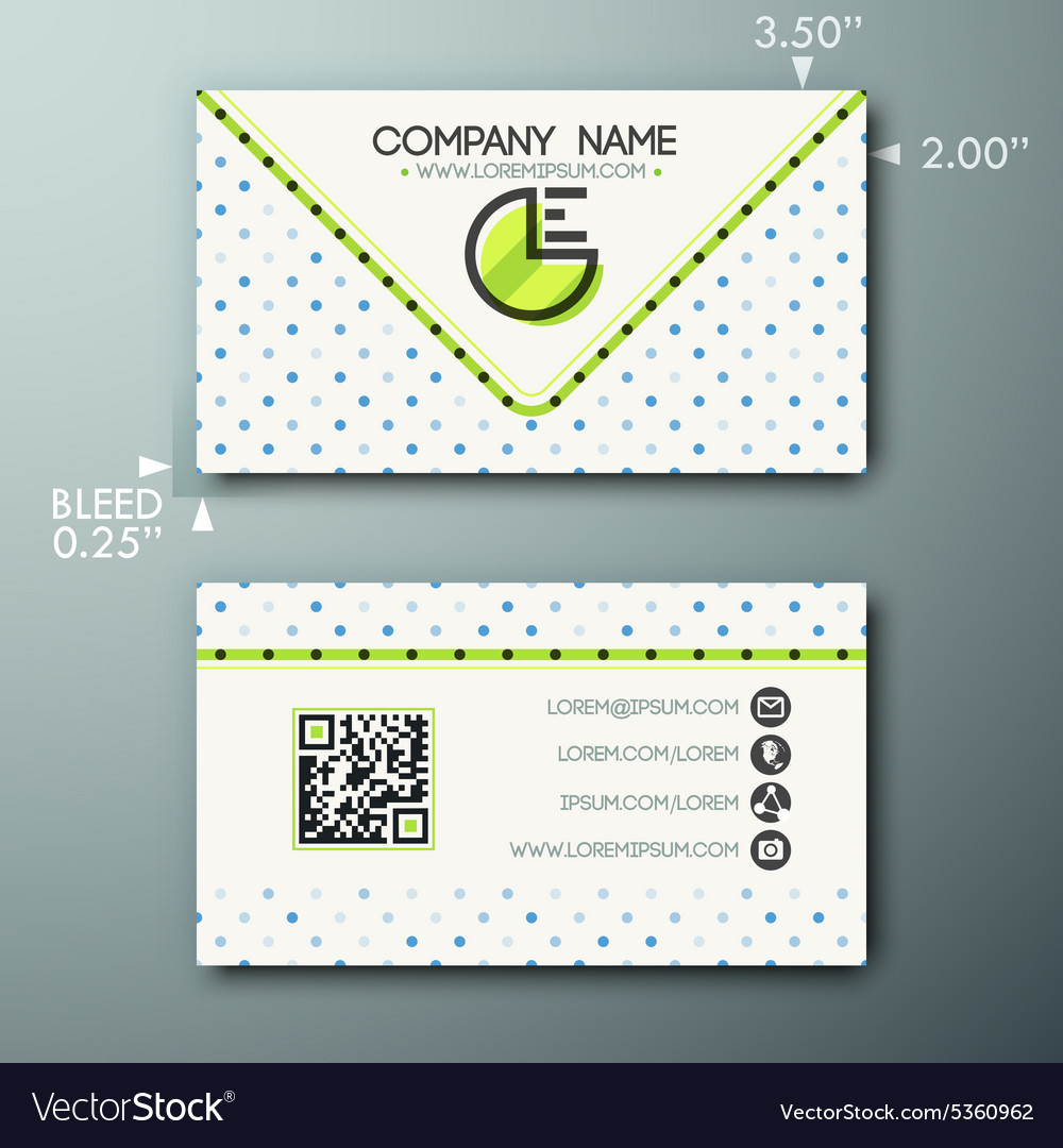 Modern Simple Vintage Business Card Template With Vector Image - Vintage business card template