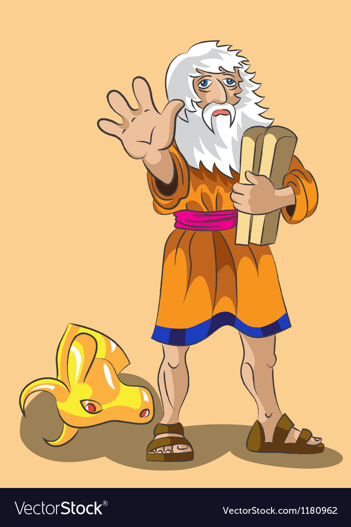 Moses and Precept stones vector image
