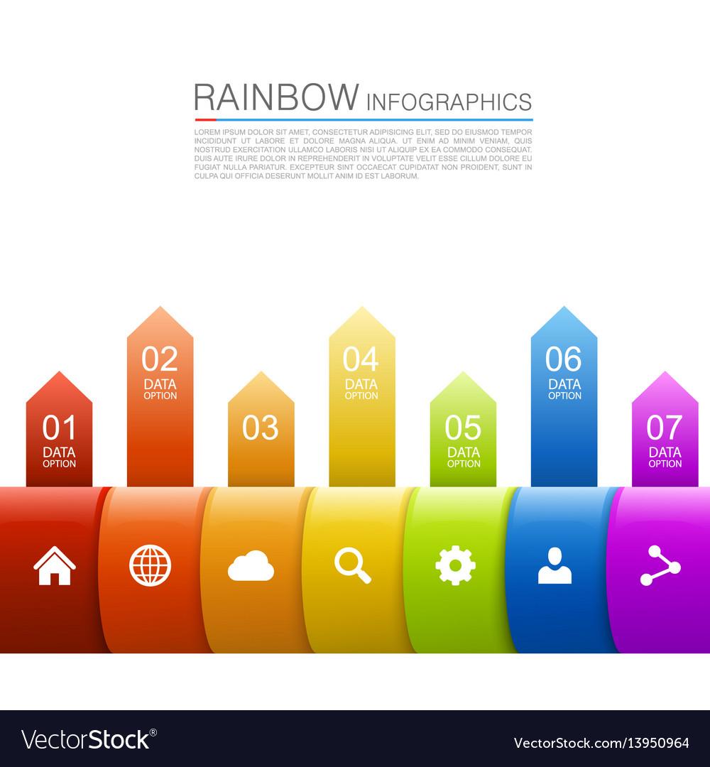 Arrows business growth rainbow vector image