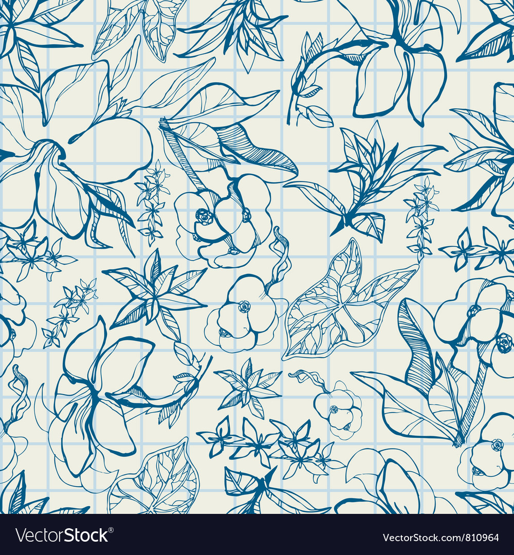 Flower Thai sketch vector image