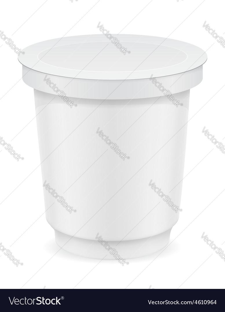 Plastic container of yogurt or ice cream 02 vector image