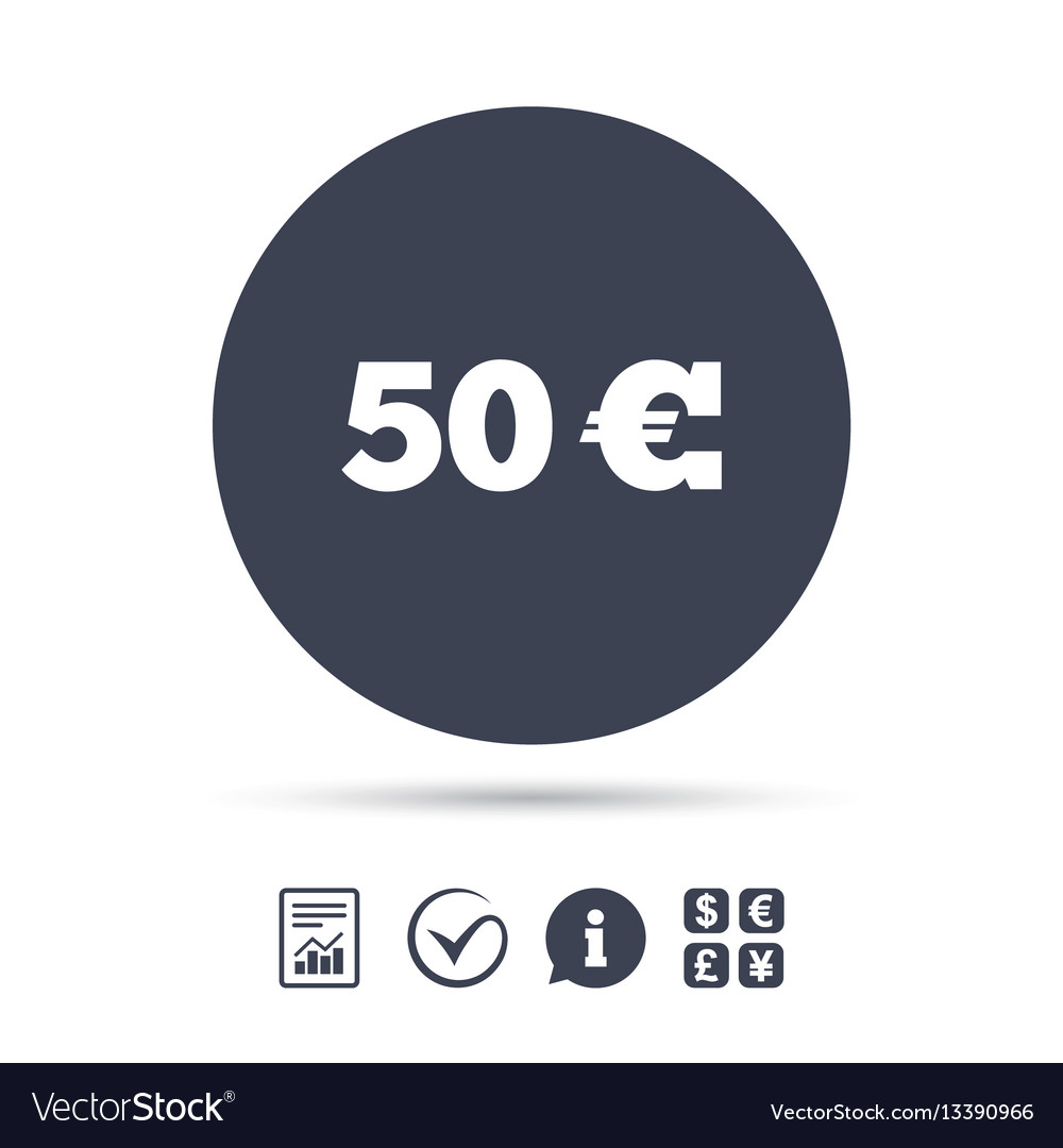 50 euro sign icon eur currency symbol royalty free vector 50 euro sign icon eur currency symbol vector image biocorpaavc