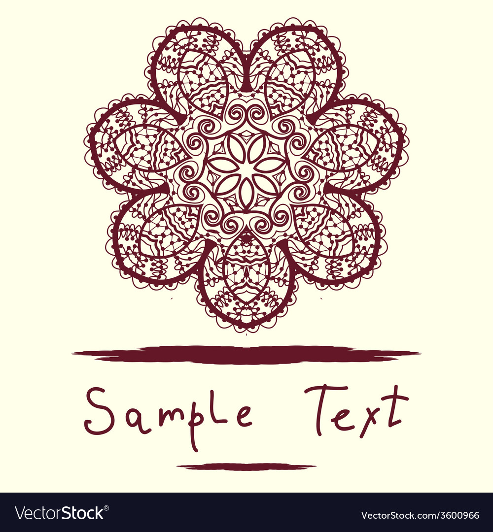 Invitation Card delicate mandala floral pattern Vector Image