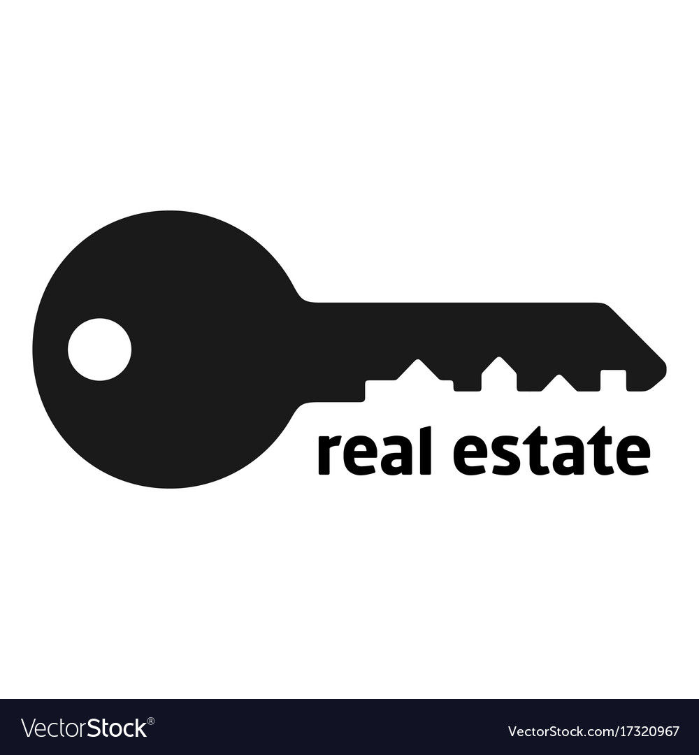 Key silhouette with city landscape vector image