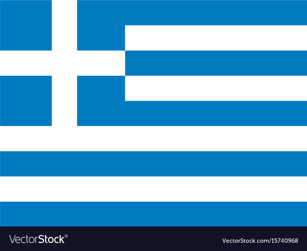 Greek flag vector image