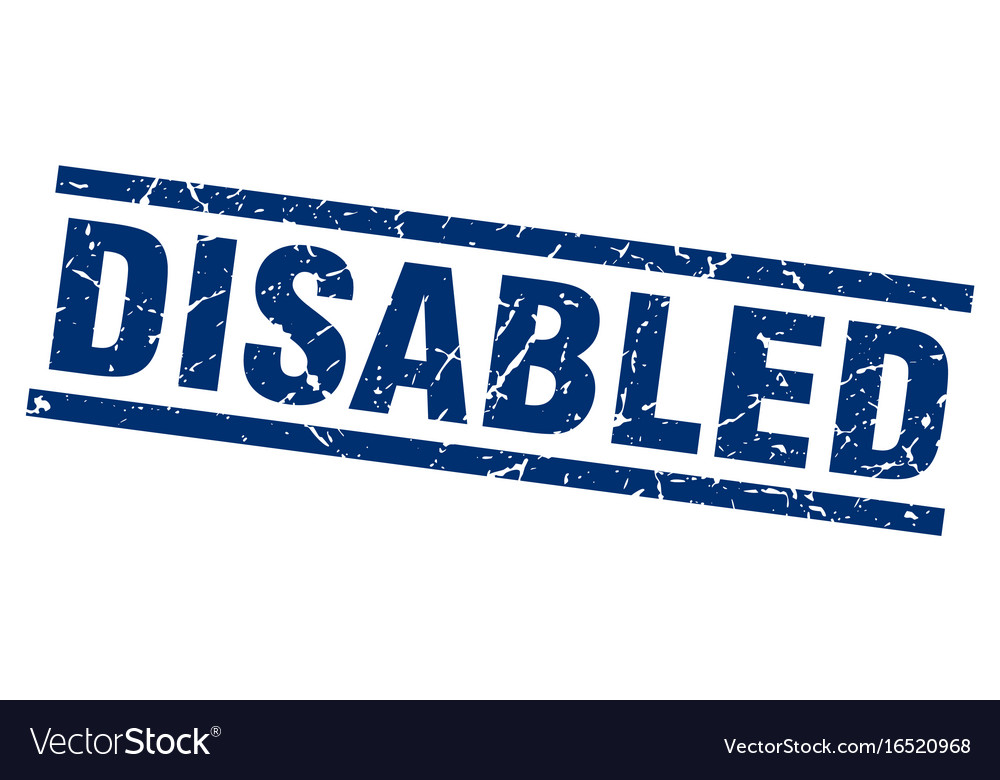 Square grunge blue disabled stamp vector image