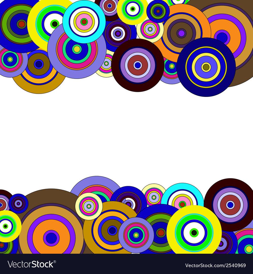 Circles colorful pattern vector image