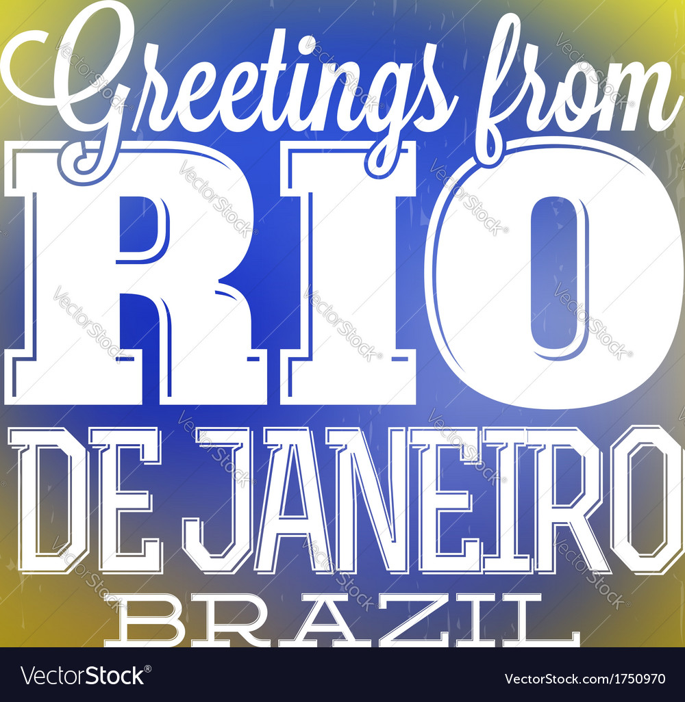 Rio De Janeiro Design vector image