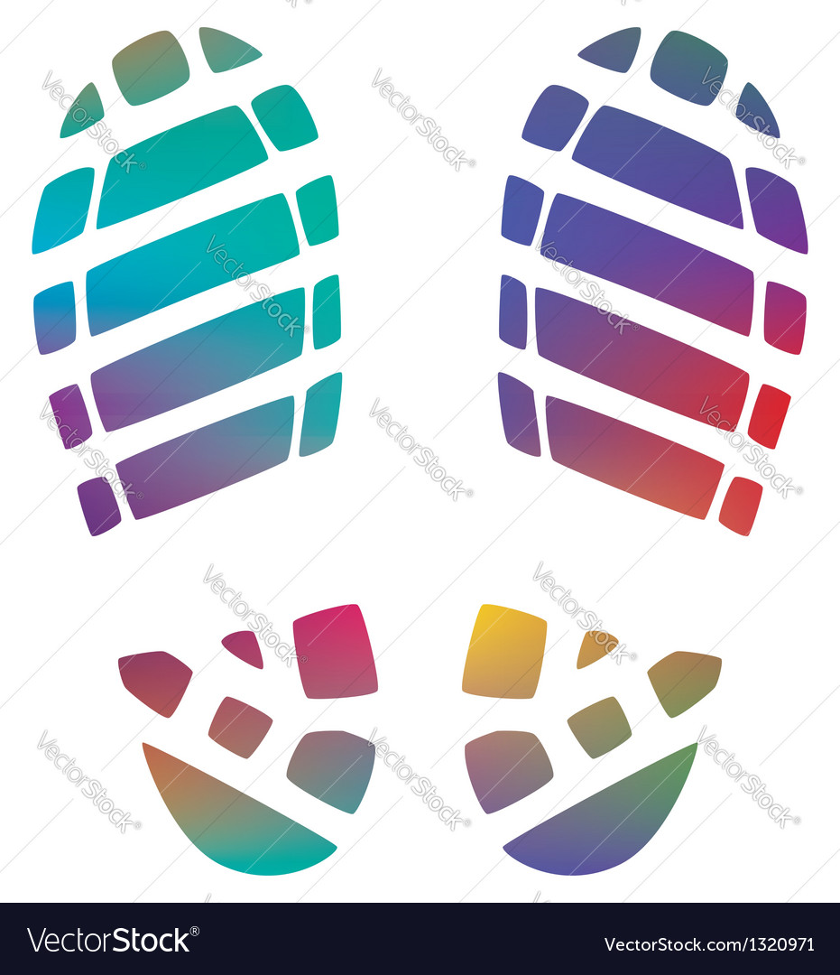 Bootprints vector image