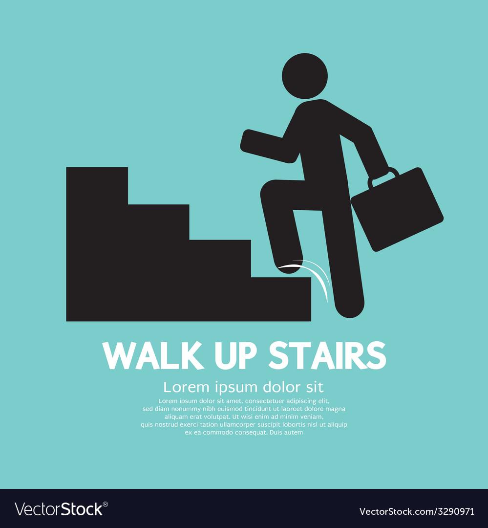 Walk Up Stairs Symbol vector image