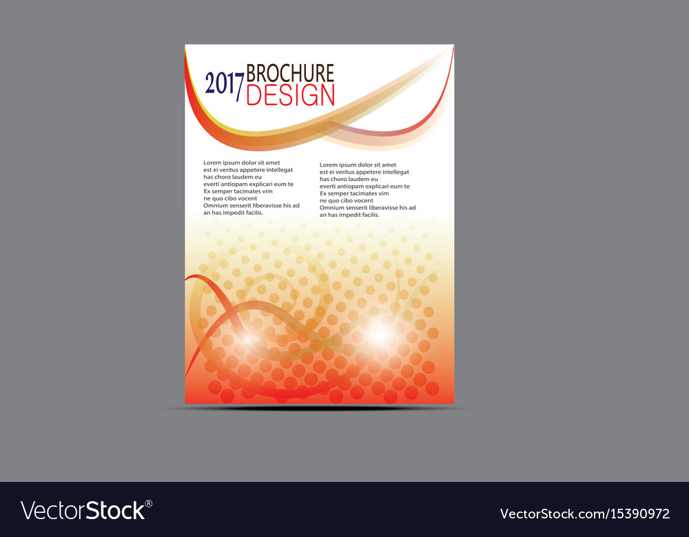 Flyer templates design brochure vector image