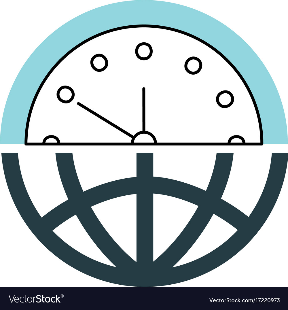 Half globe plus half clock meaning time management half globe plus half clock meaning time management vector image biocorpaavc Images