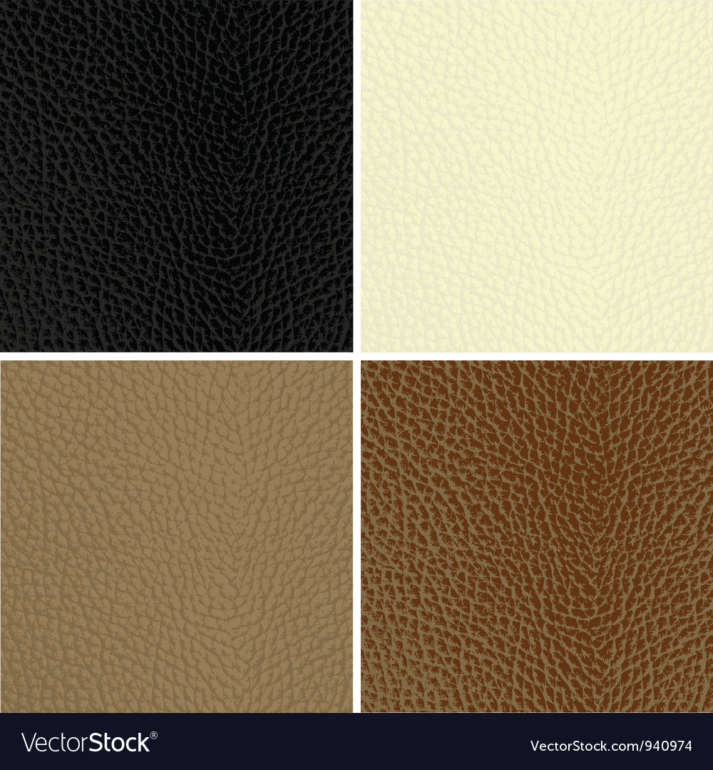 Leather textures vector image