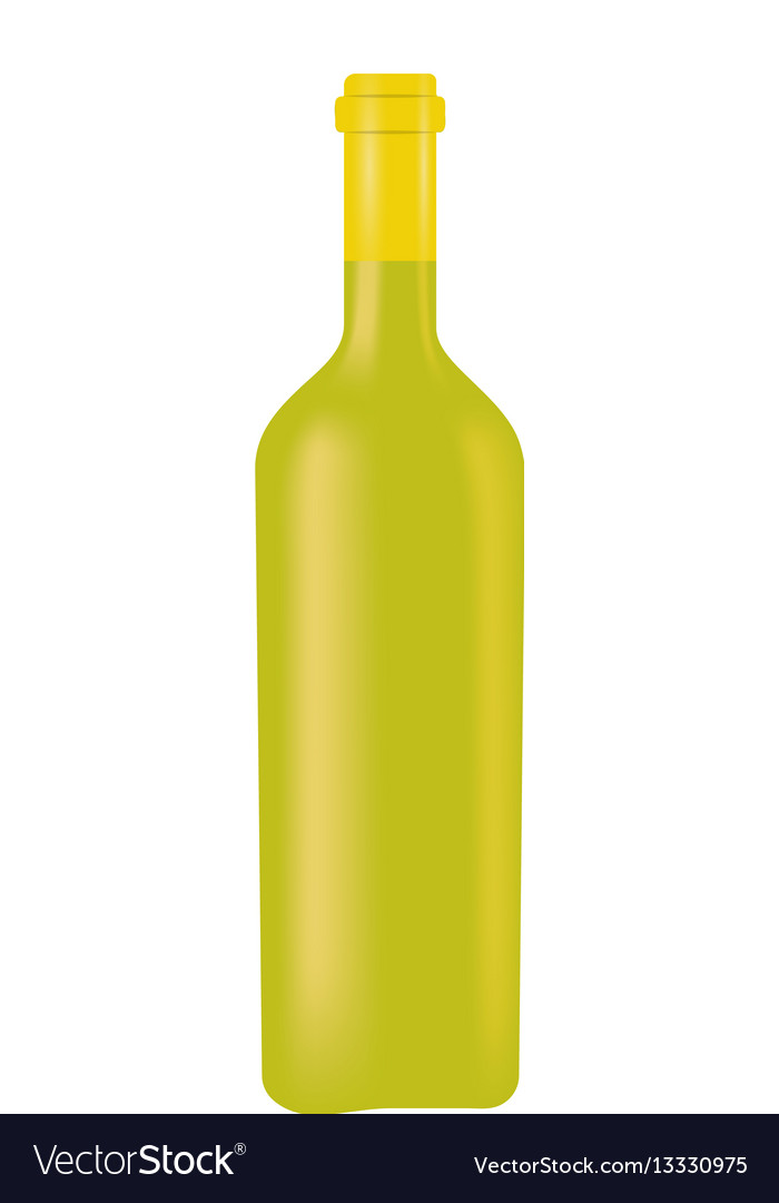 Green glass bottle wine design vector image