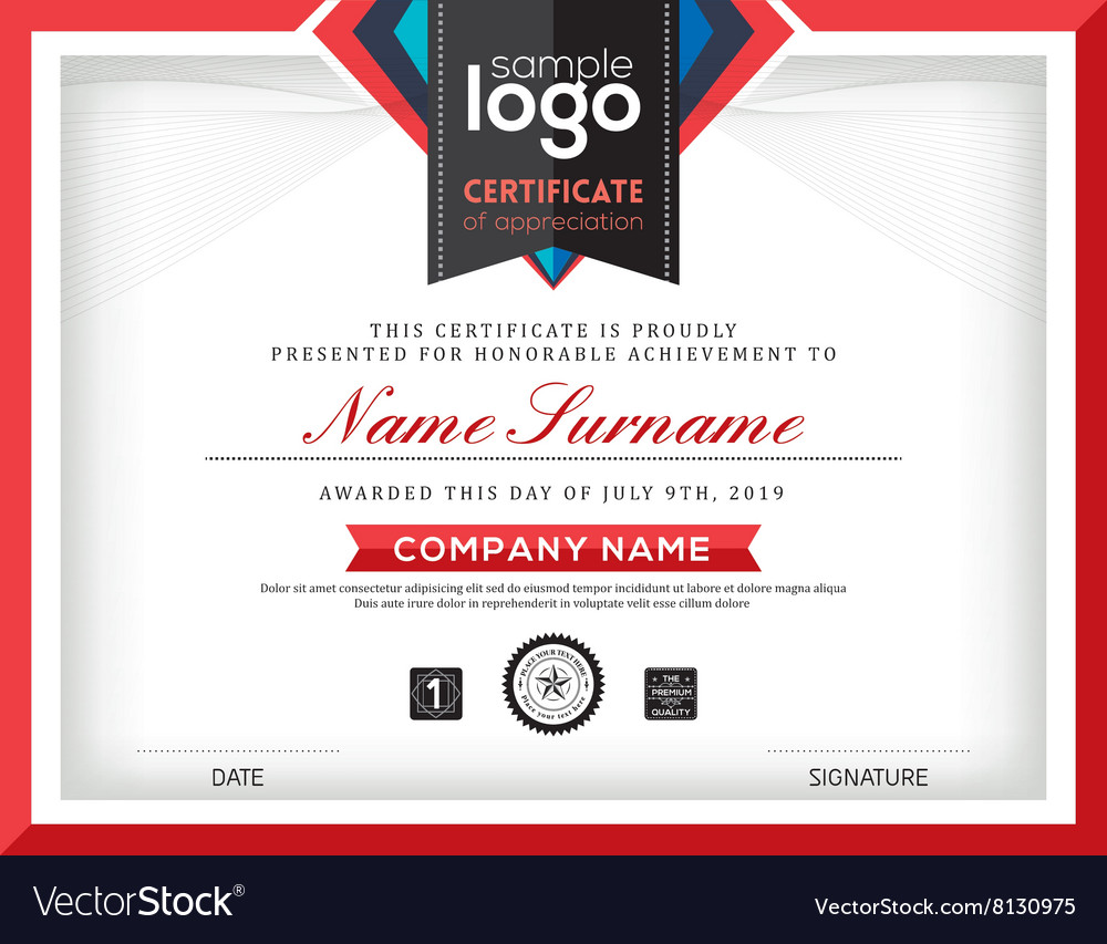Modern certificate abstract frame and border vector image