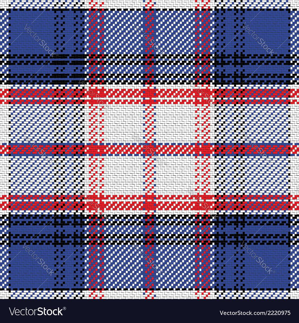 Seamless pattern Scottish tartan State of Florida vector image