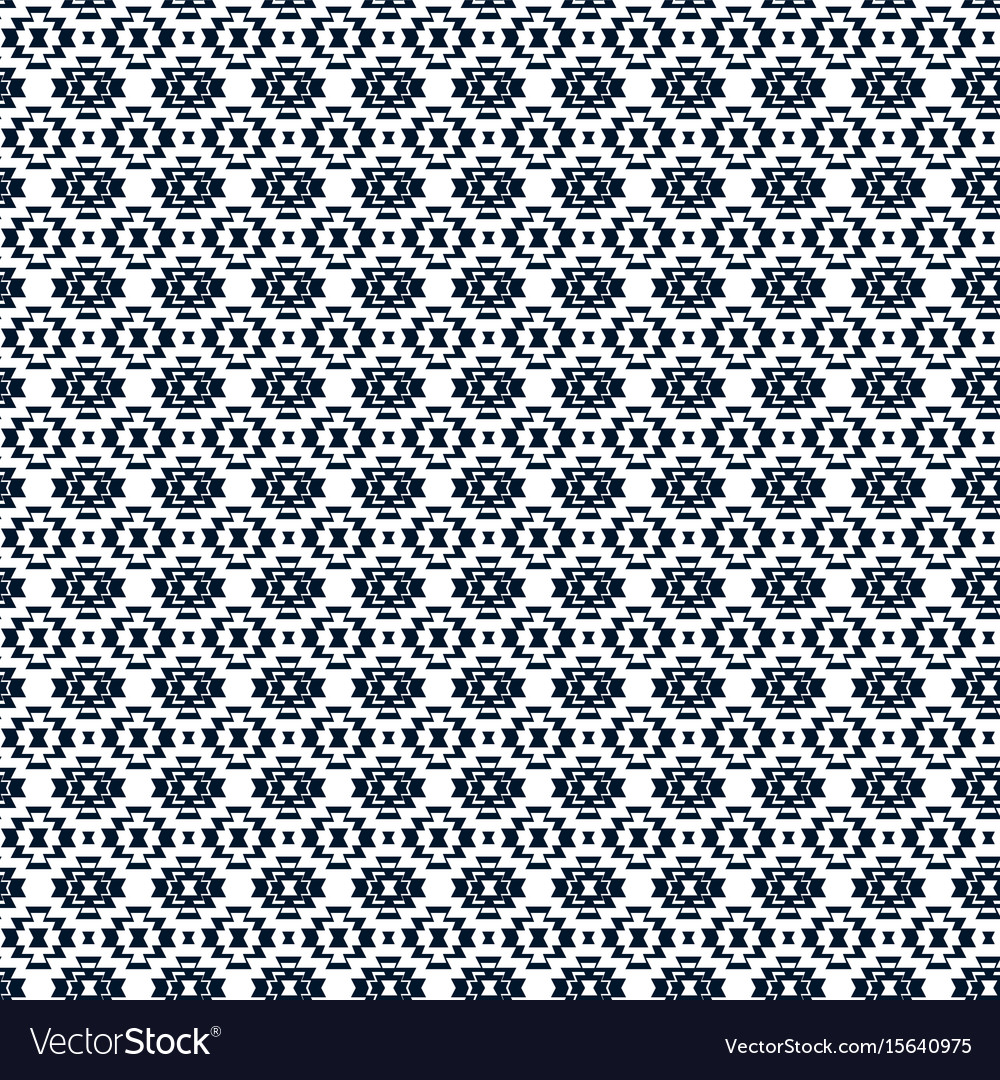 Tribal background aztec pattern in black vector image