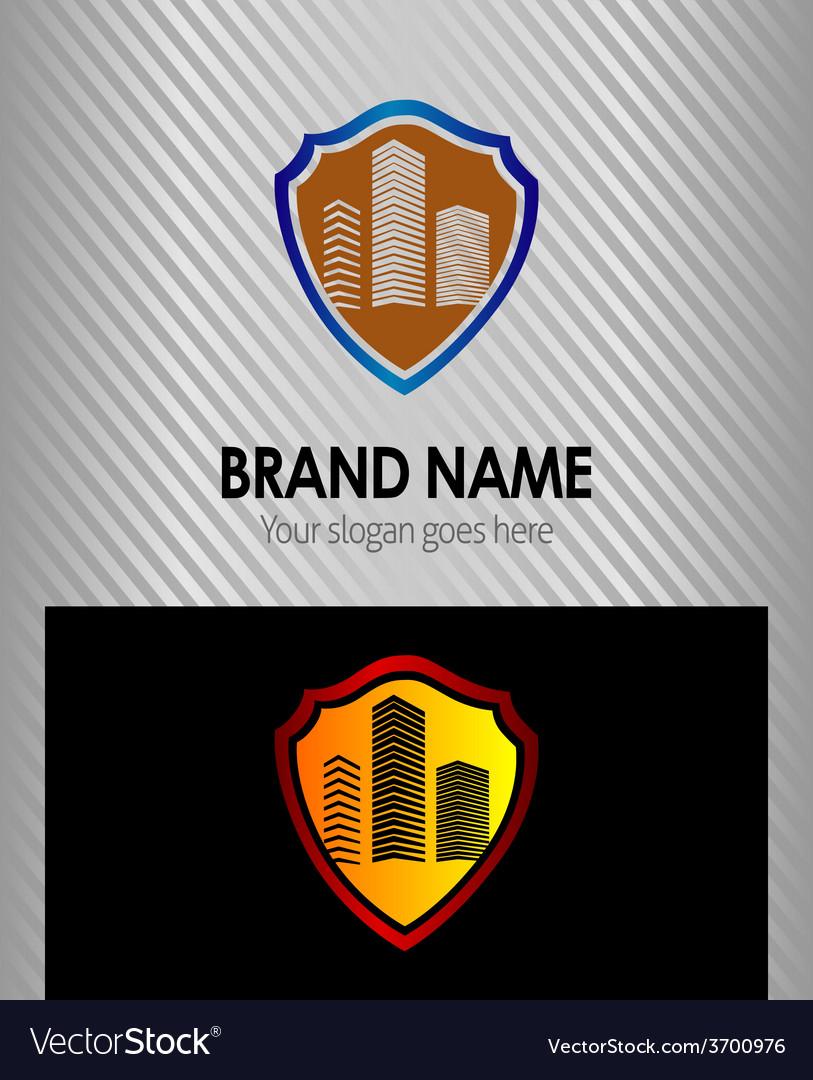 Abstract building symbol logo shield icon vector image abstract building symbol logo shield icon vector image biocorpaavc