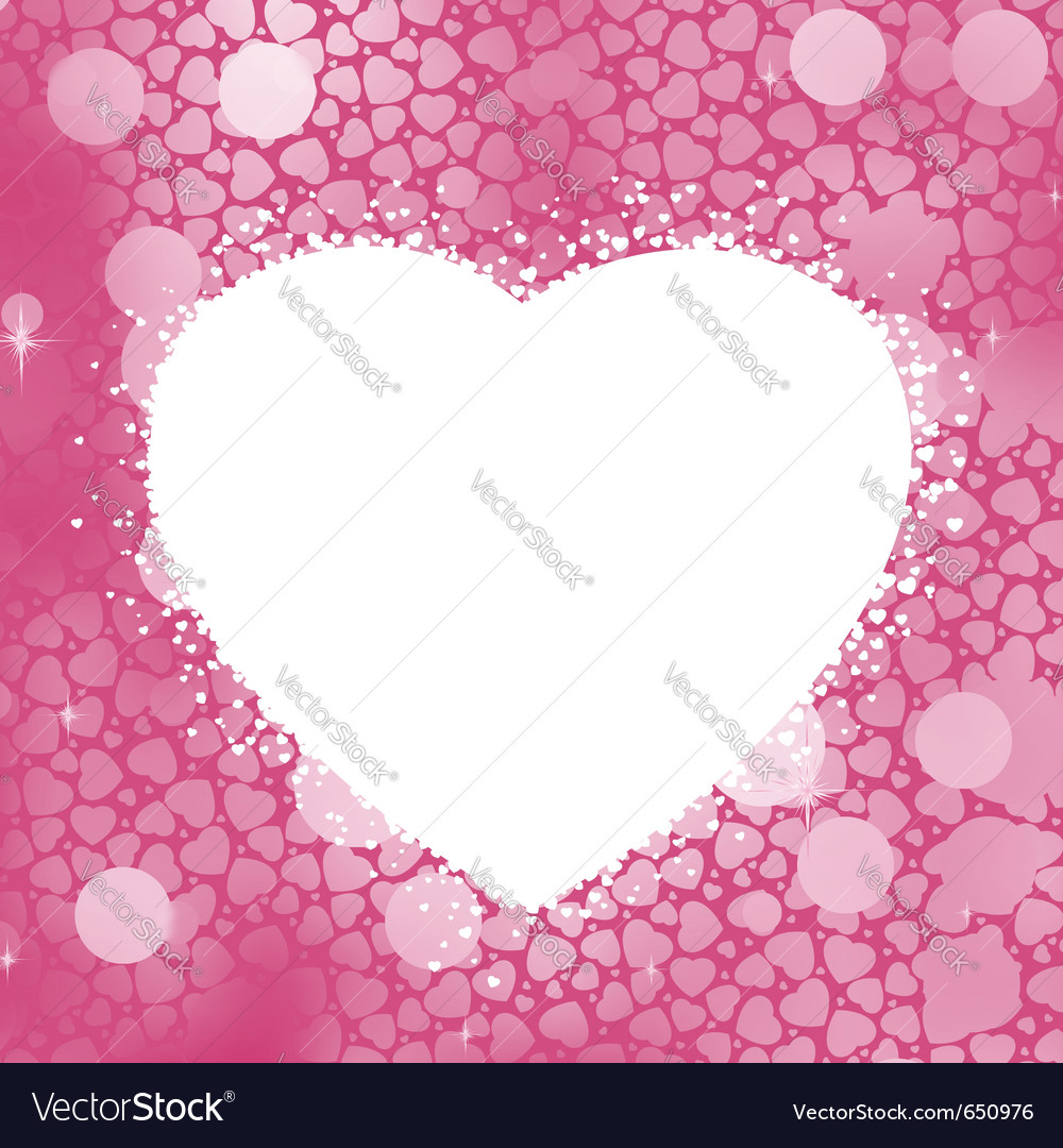 Pastel heart frame vector image