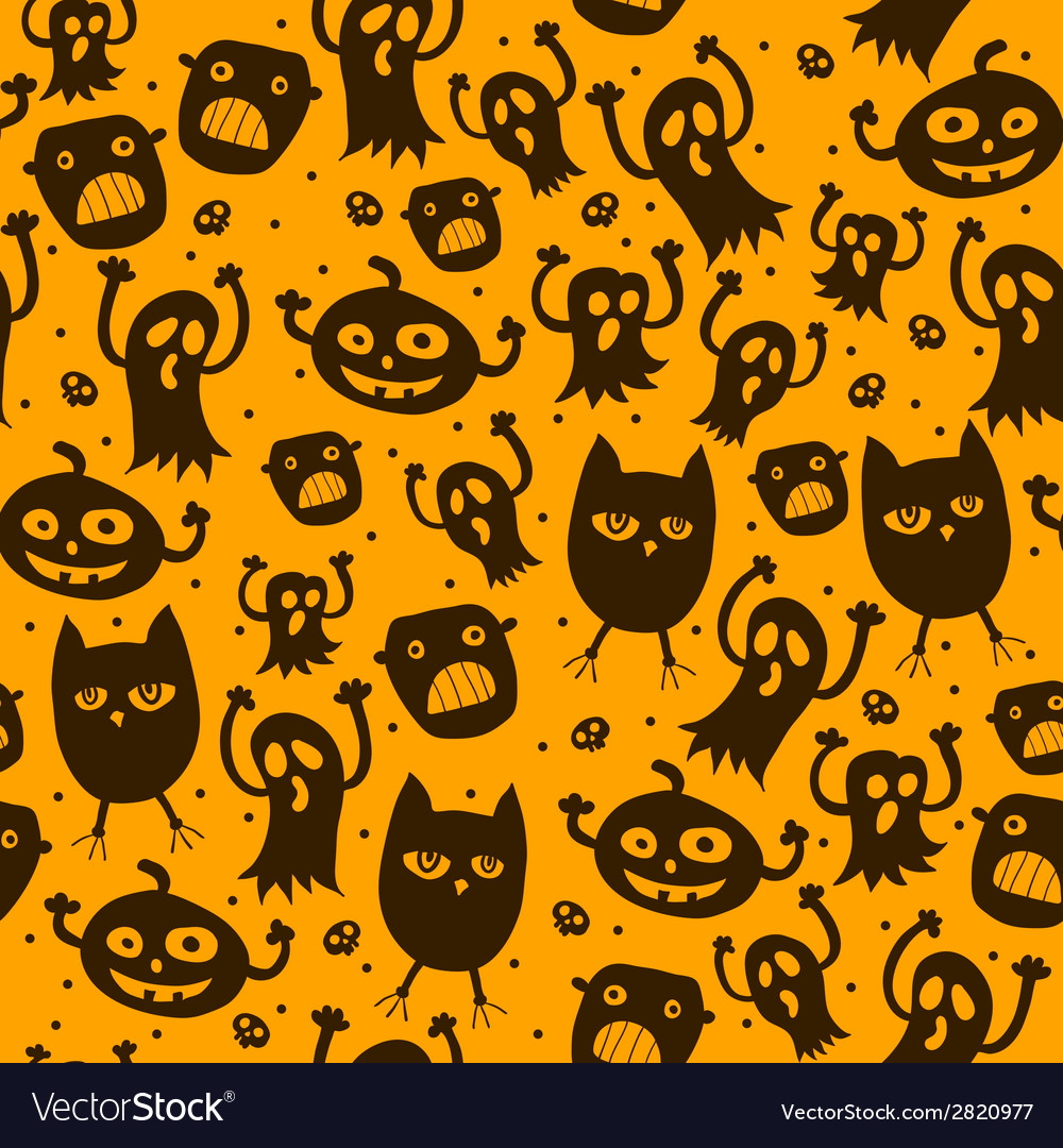 Pattern seamless texture with silhouette of a cat vector image