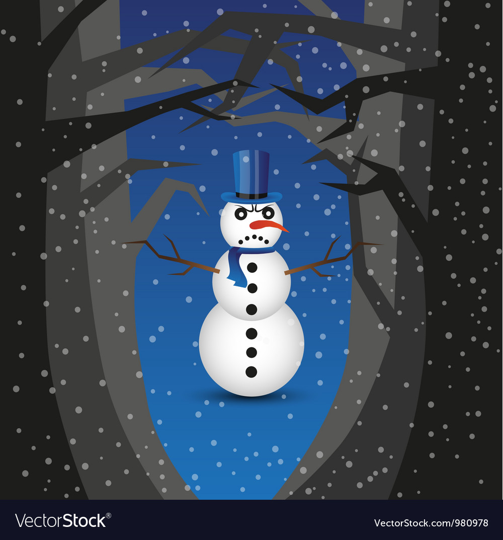 Bad snowman Vector Image