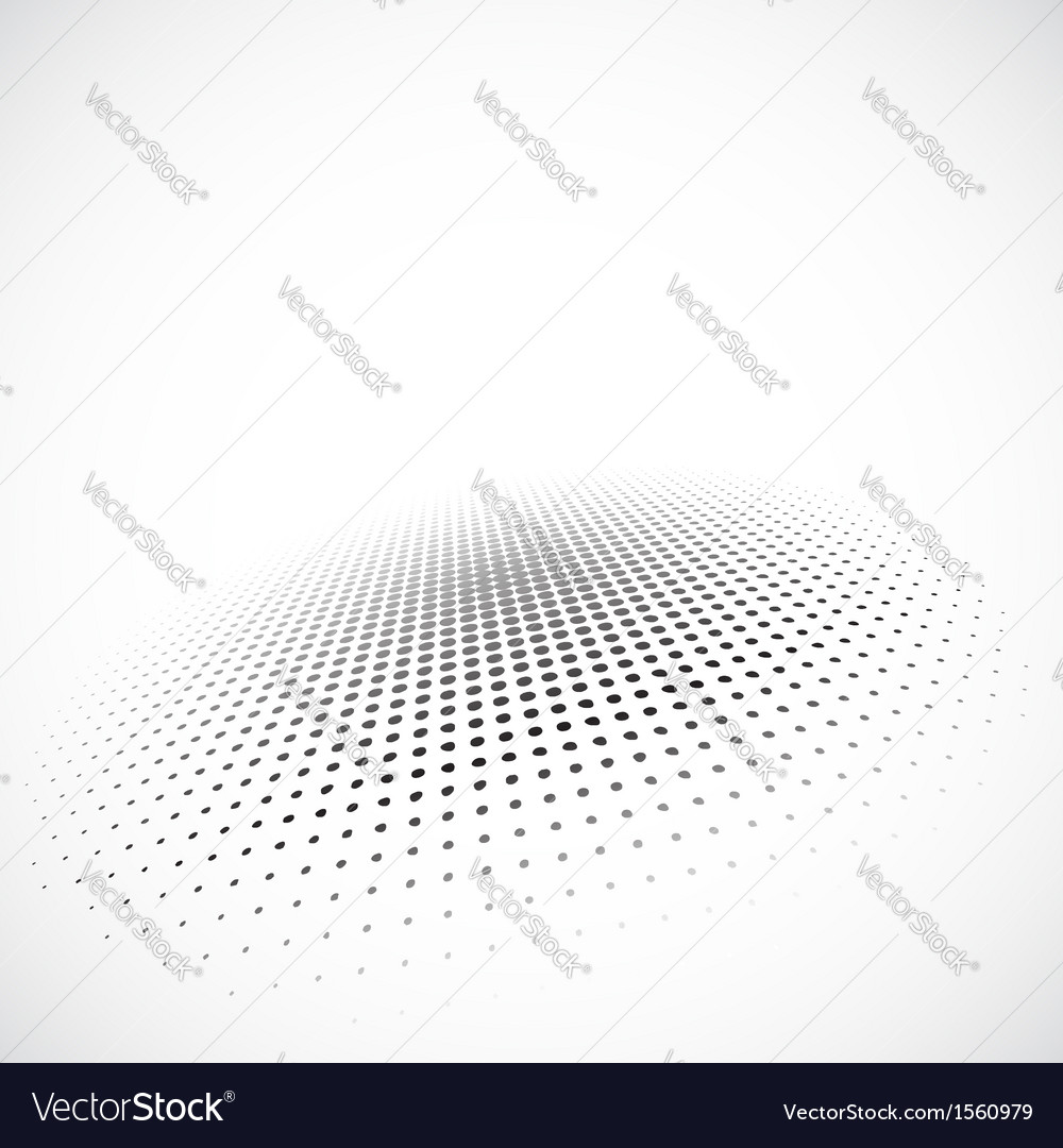 Halftone circle on gray background vector image